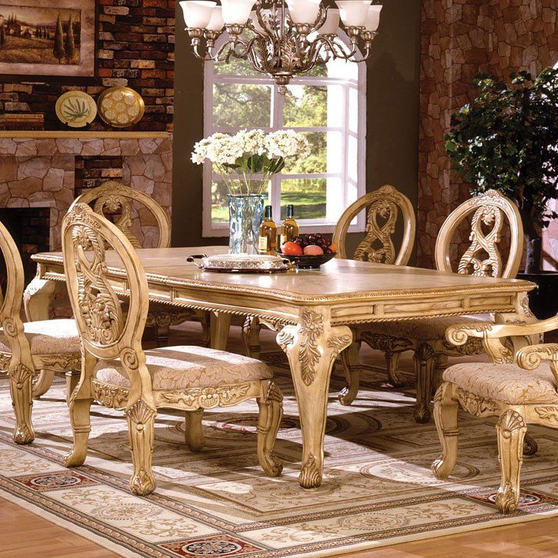 Tuscany Ii Dining Table Antique White Formal Dining Tables