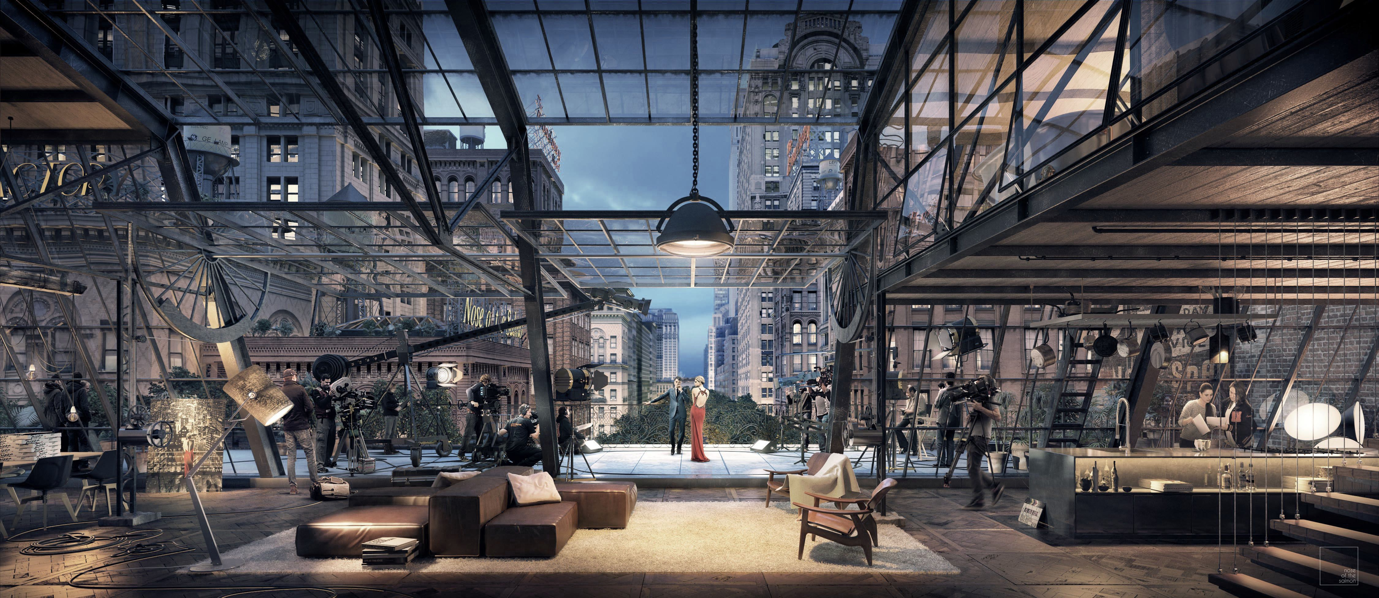 Digital artist 3d artist ny loft loft living space