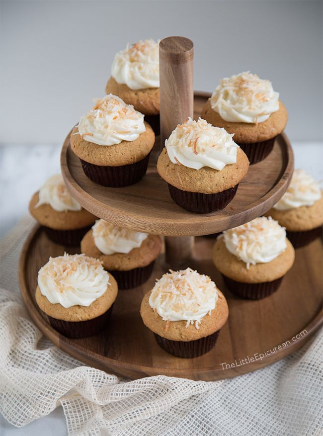 Coconut Cupcakes - Stand Mixer and Hand Mixer Recipes with the @hamiltonbeach brand ambassadors