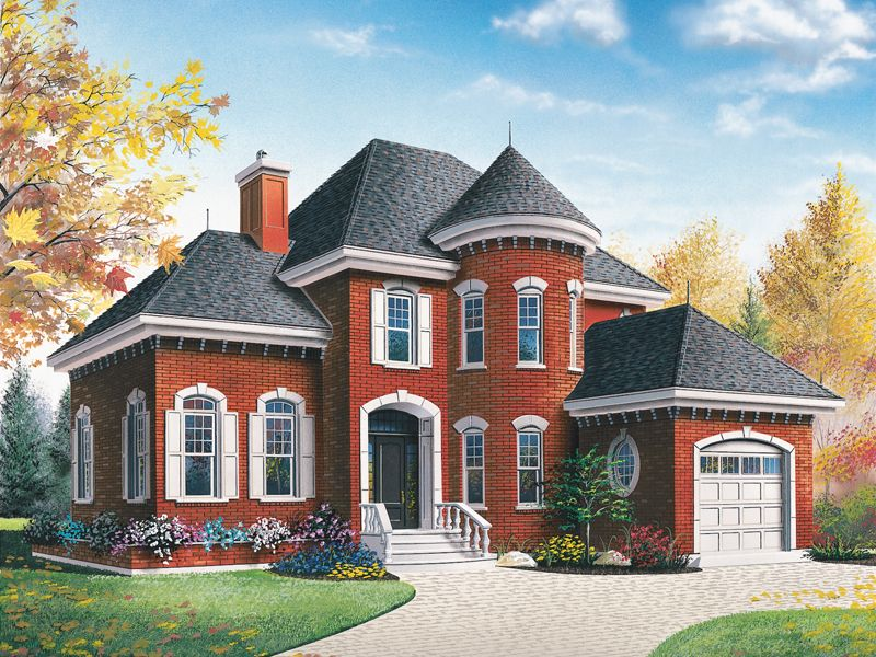 Atwater Victorian Style Home Red Brick House Victorian Style Homes House Designs Exterior