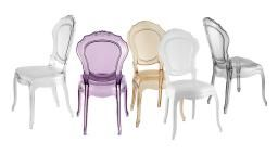 Chaise Style Policarbonate Belle Epoque 5 Couleurs Mobiliermoss