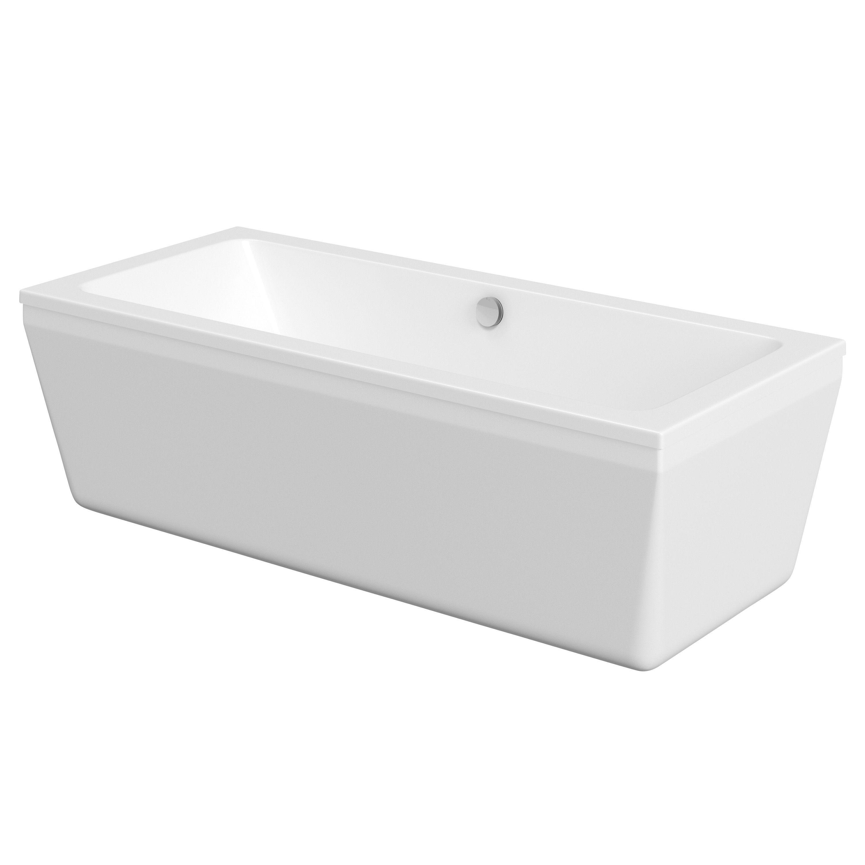 Cooke & Lewis Lana Acrylic Rectangular Freestanding Bath (L)1700mm ...