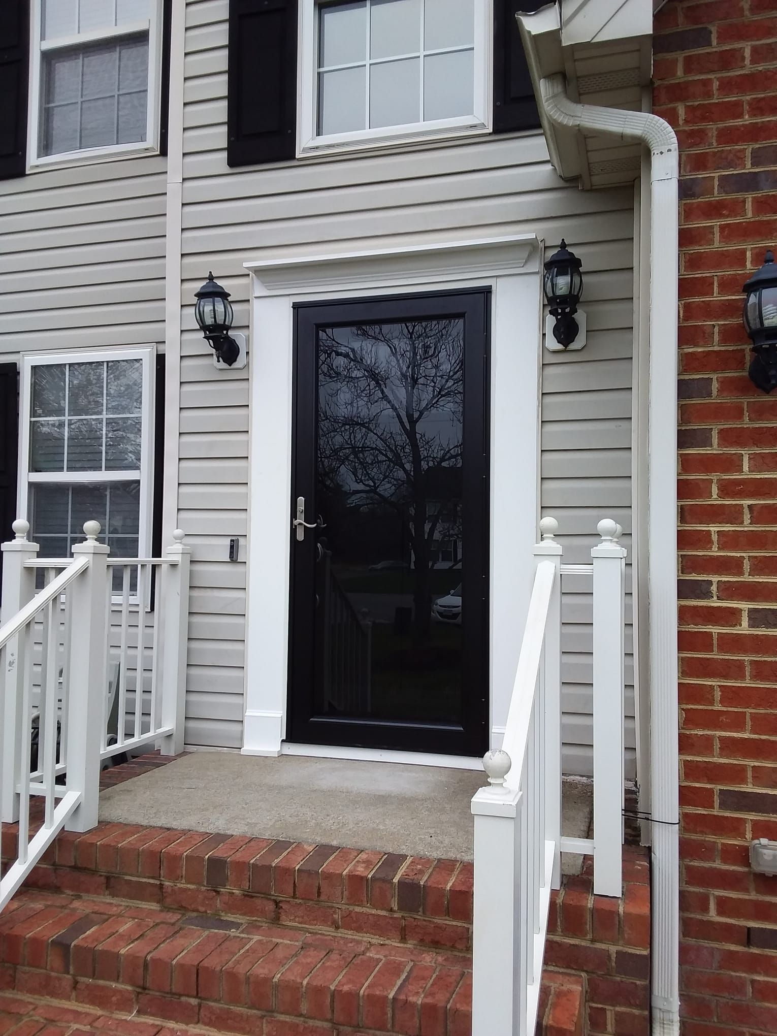 This customer wanted the glass in their storm door to be