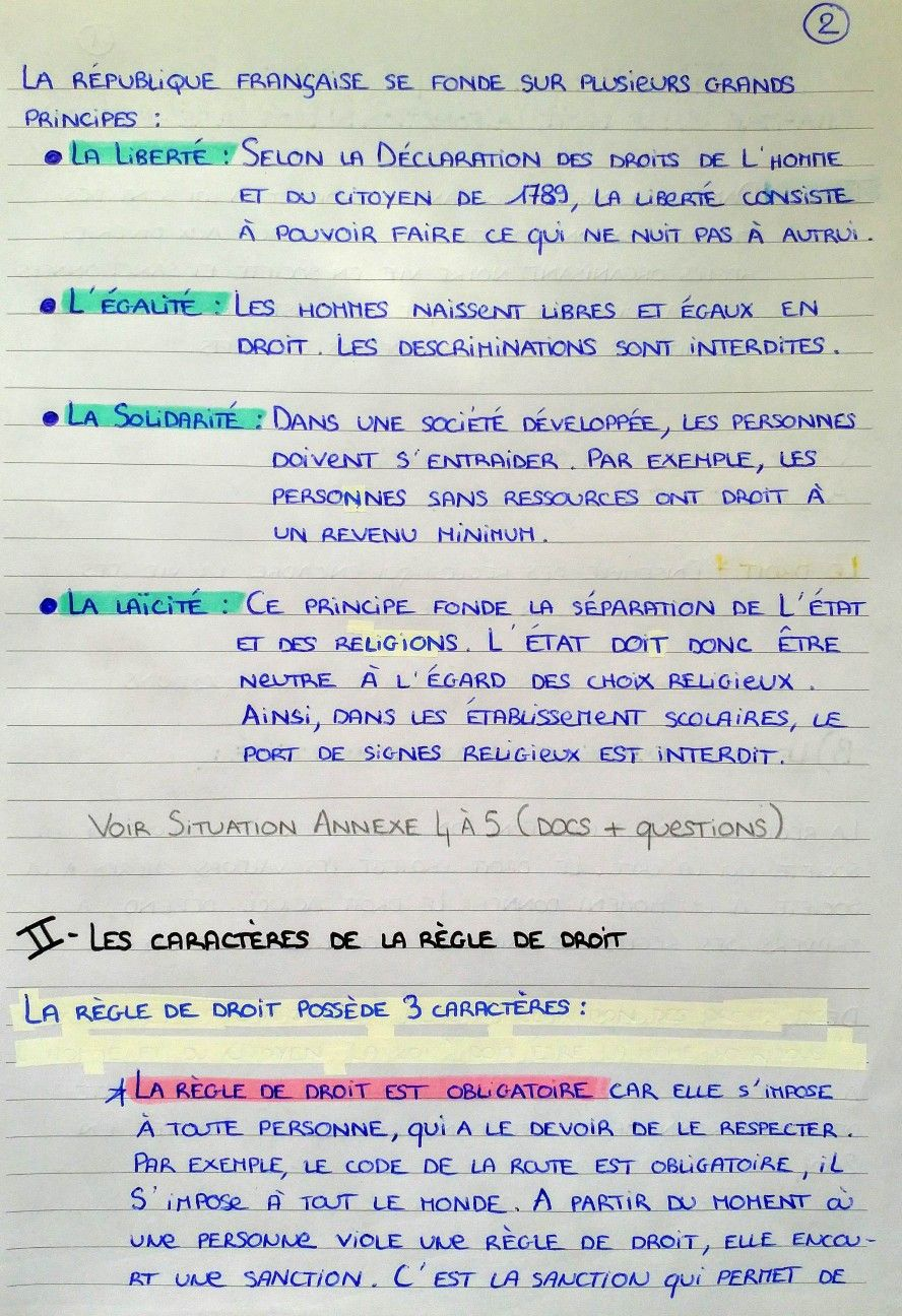 Page 2 Fac De Droit Cours De Droit Fiches D Etude