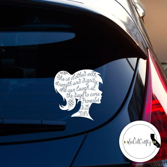 We Are Offering This Lovely Typographic Bible Verse Decal From - Bible verse custom vinyl decals for car