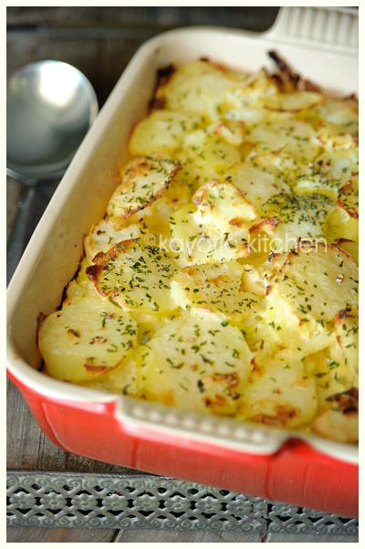 Vegetable Quiche Casserole - cauliflower, leeks, potatoes layered with cheese mixture