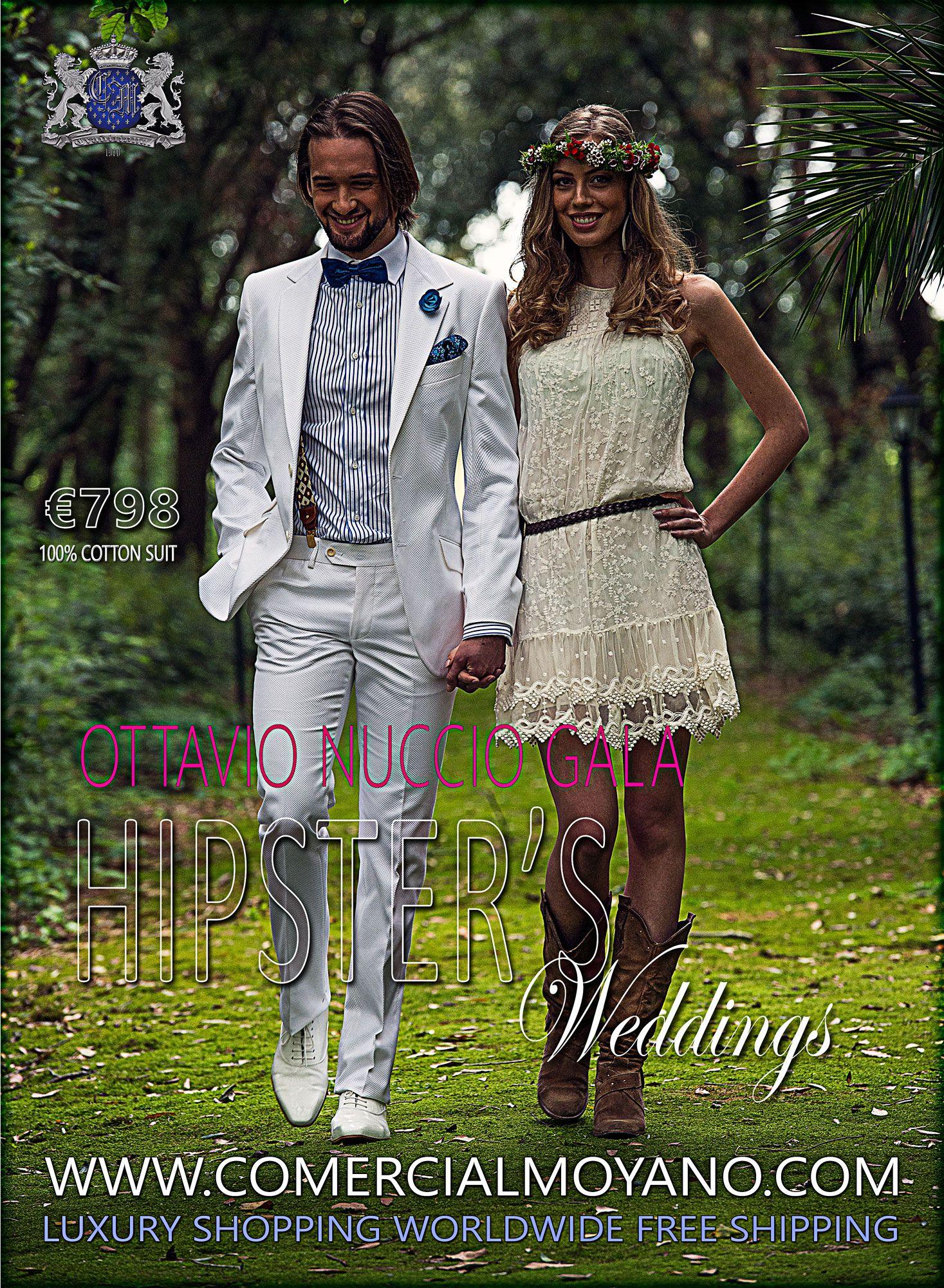 Traje de piqué blanco algodón 100% Ottavio Nuccio Gala. Compra ya! http://bit.ly/1nyuqqv
