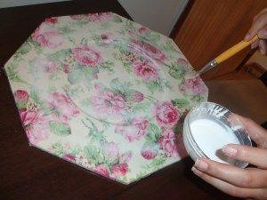 Sousplat de tecido