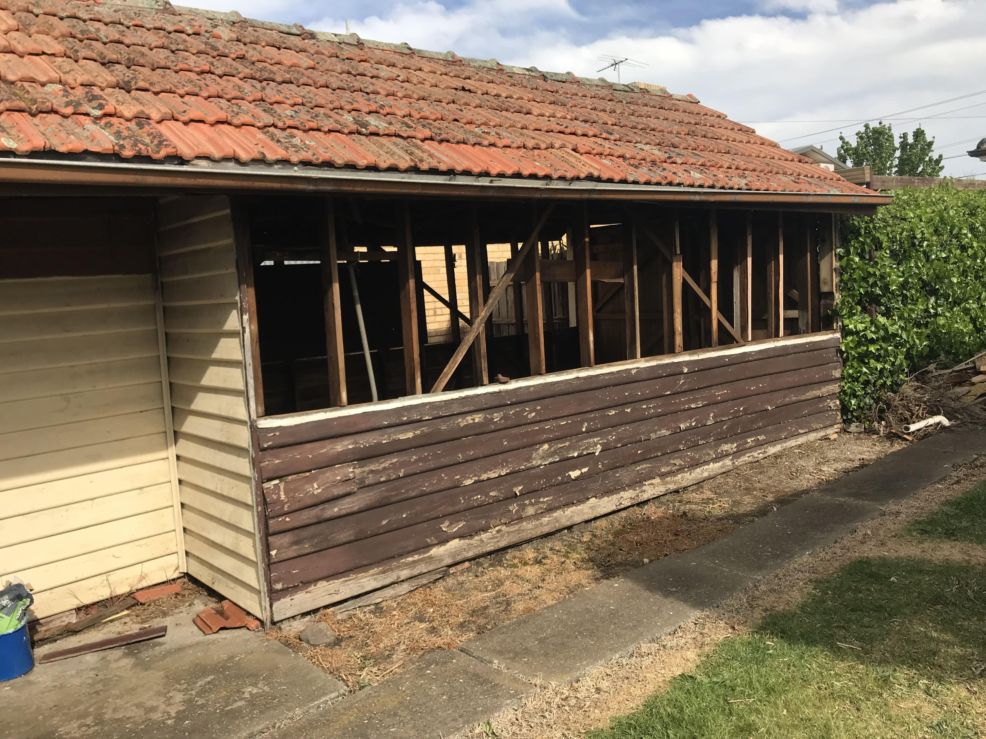 Another Asbestos Removal Melbourne Northern Suburbs Project Complete We Got A Call Last Week To Remove Asbestos Walls Asbestos Removal Suburbs How To Remove