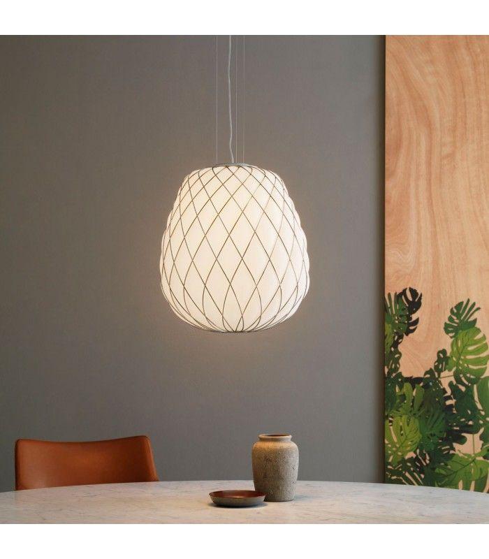Fontana Arte|Pinecone bianco latte|lampadario|led|a prezzi scontati ...