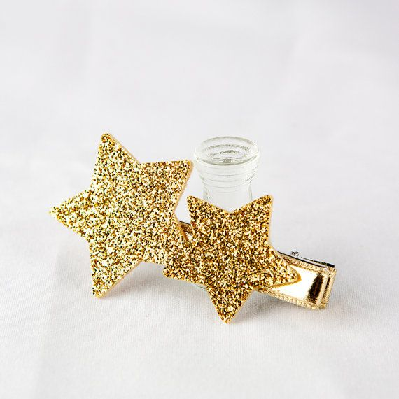 Hair Clip for Kids Gril Baby Hair Clip Gold by GlitterfitKids #babyhairaccessories
