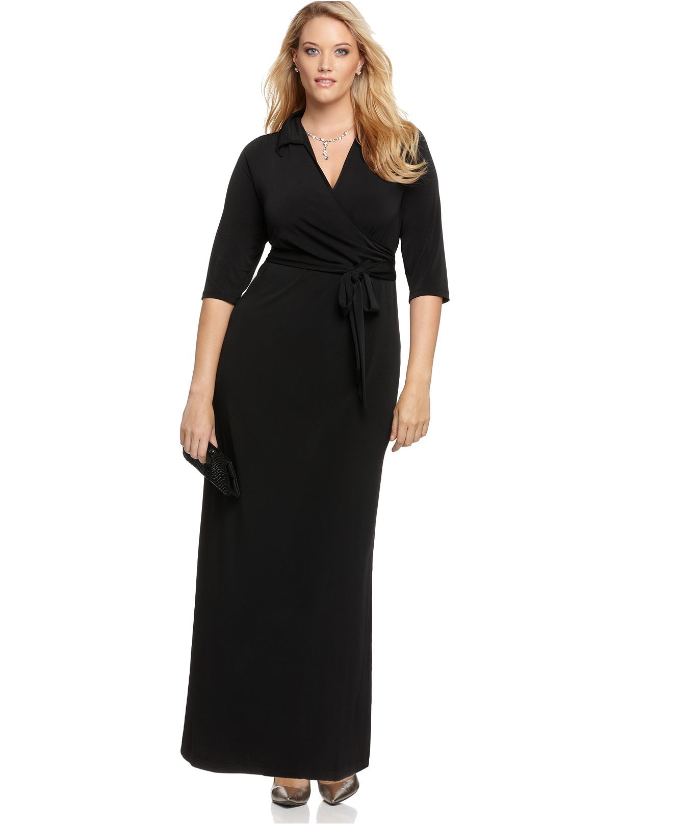 8b391431bd32a NY Collection Plus Size Faux-Wrap Maxi Dress - Plus Size Dresses - Plus  Sizes - Macy s. Cheaper!