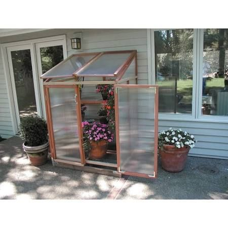 Sunshine 4 X 3 Foot Lean To Patio Greenhouse GKP PGH