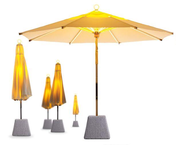 ni led parasol big garden torch with finger sensing otc tuvie umbrella designs lumineo solar string lights