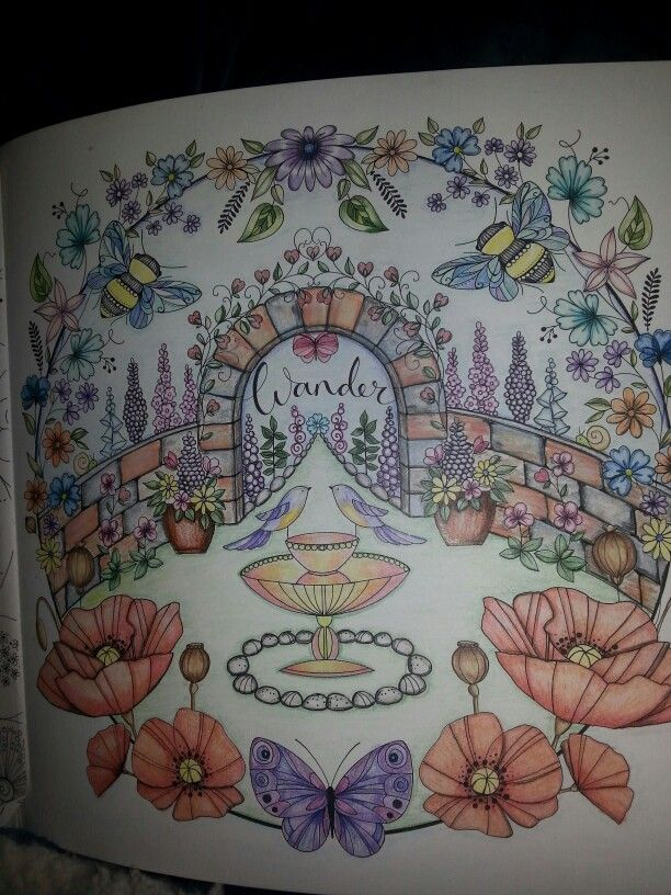 Joyous Blooms To Colour By Eleri Fowler In Prismacolors Joyousbloomstocolor Elerifowler