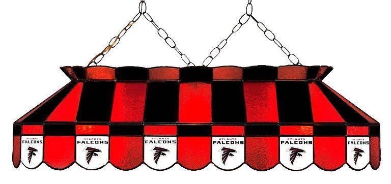 """Atlanta Falcons 40"""" Glass Lamp"""