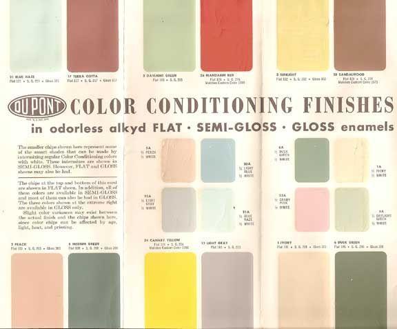 gamme de couleur de peinture retro pour la maison retro. Black Bedroom Furniture Sets. Home Design Ideas