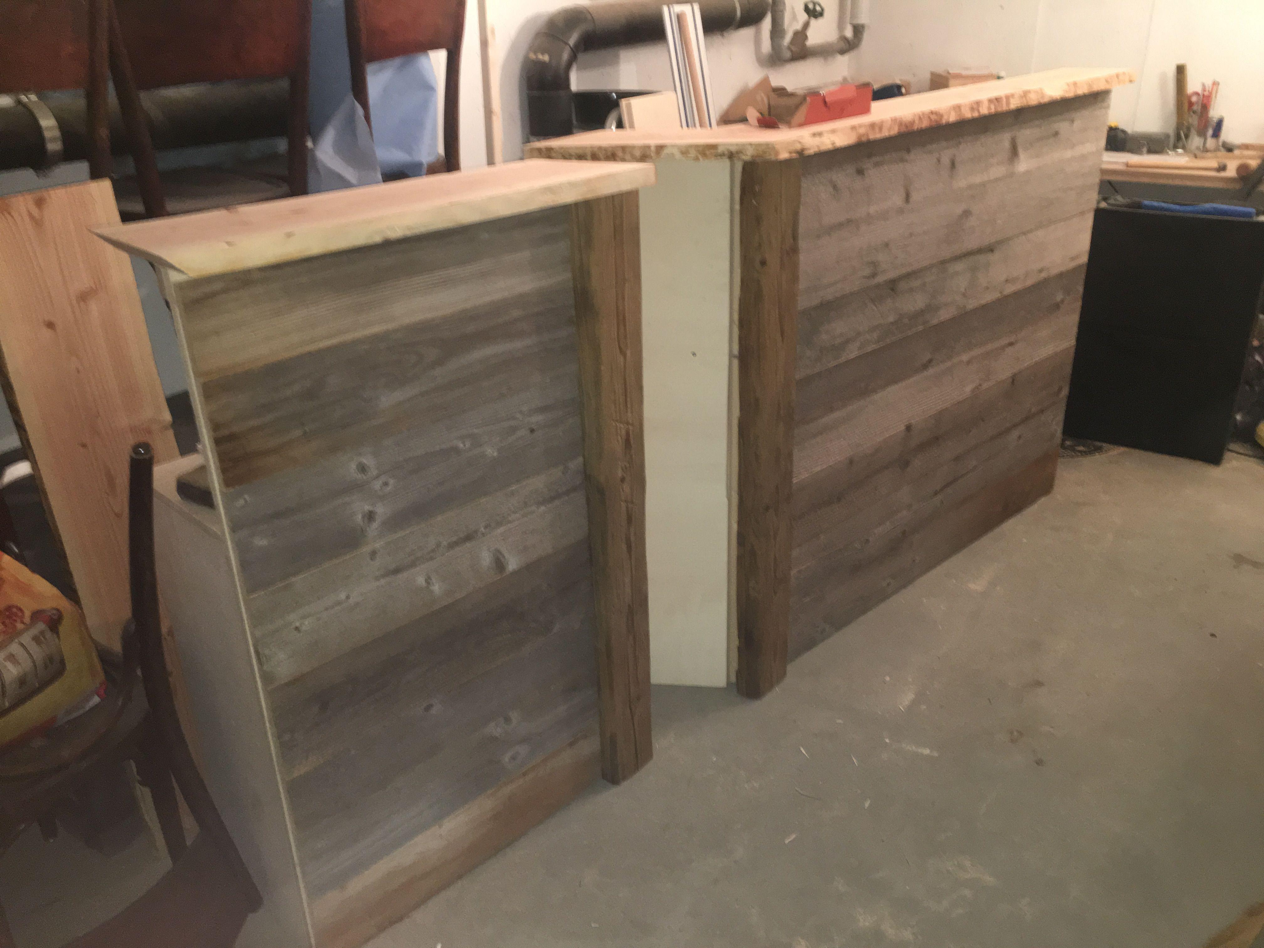Meuble de réception en vieux bois démontable