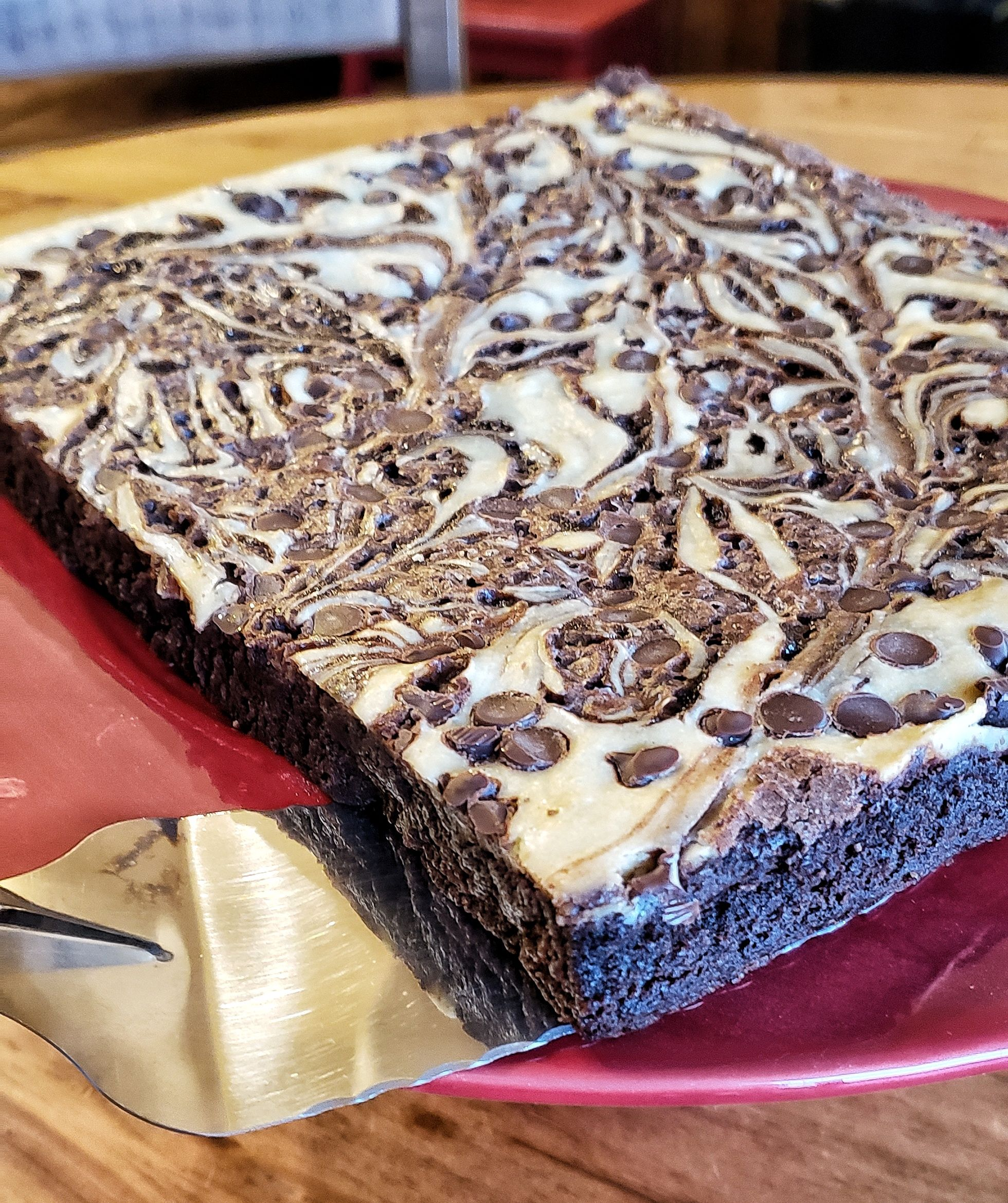 Delicious Cream Cheese Brownie In Pan Size Serves 10 12 Cream