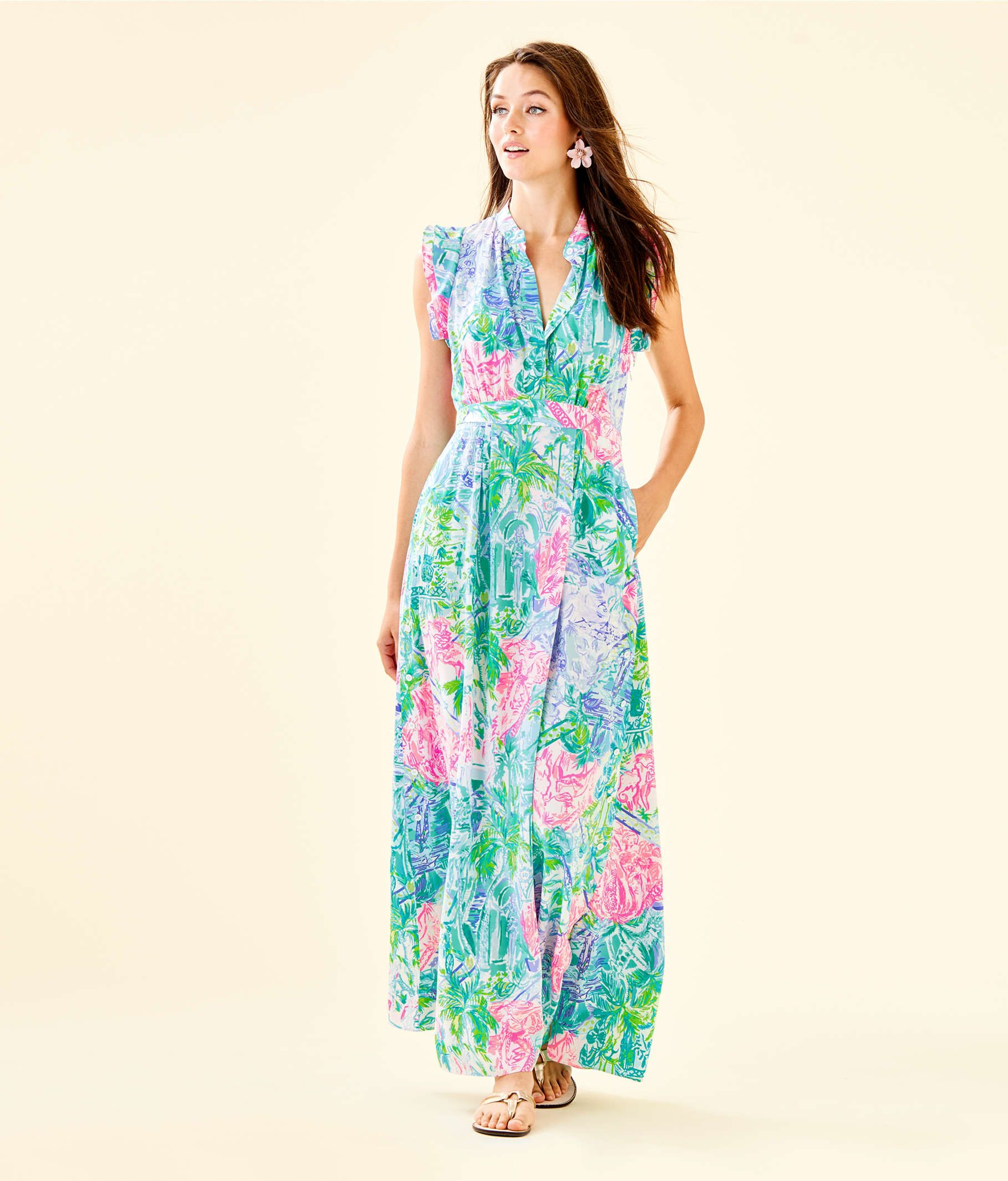 aac21aed Palm Beach Silk Maxi Dress in 2019 | Wish List | Kleider, Fit