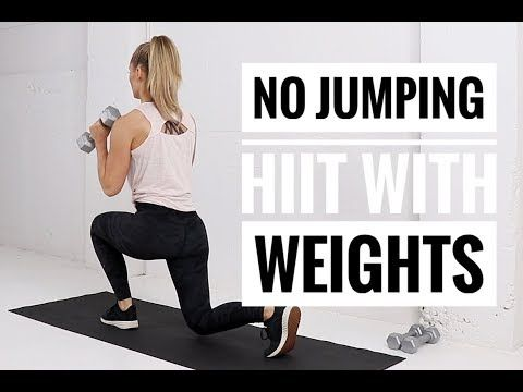 low impact hiit workout with weights // no jumping