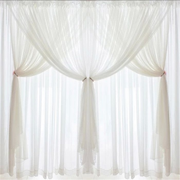 lace curtain valances white attached valance curtains
