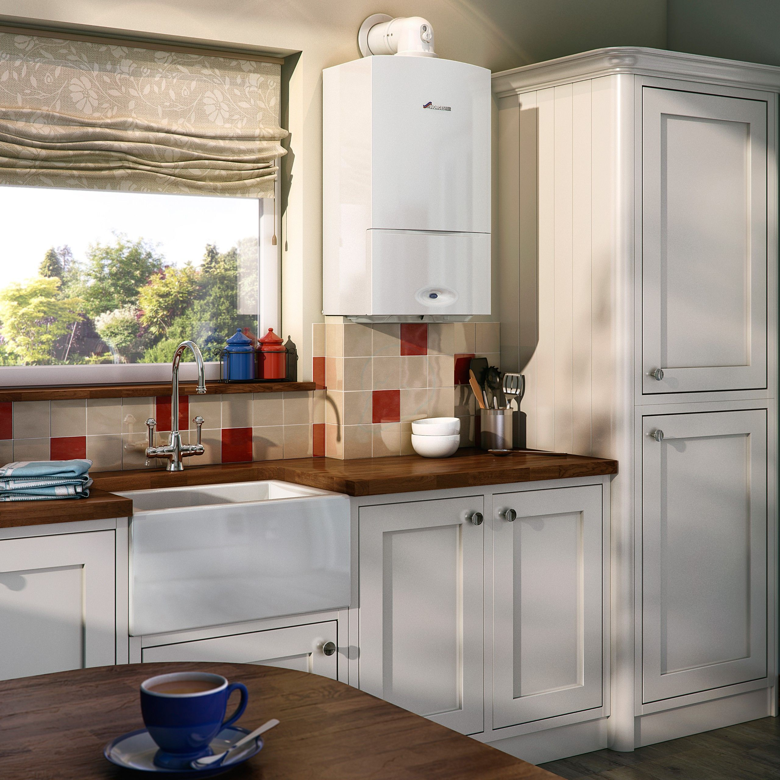 Contemporary Urban Kitchen St Albans: Worcester Greenstar 25si Compact Condensing Combi Boiler