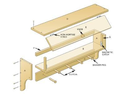 Free Coat Rack Shelf Plans How To Build A Shelf With Hooks Wall