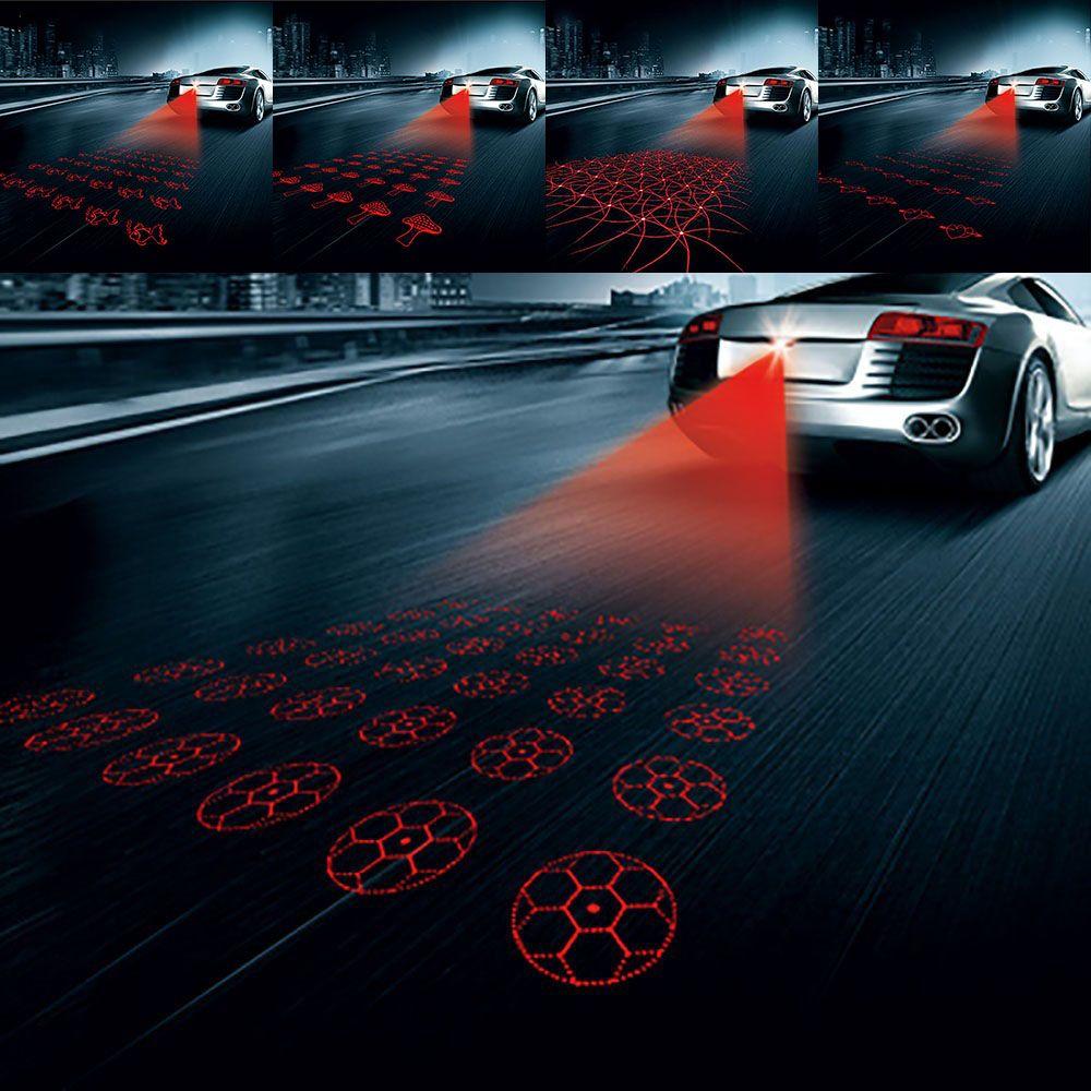 Universal Anti Collision Rearend Car Red Laser Tail V Warning - Car laser light show