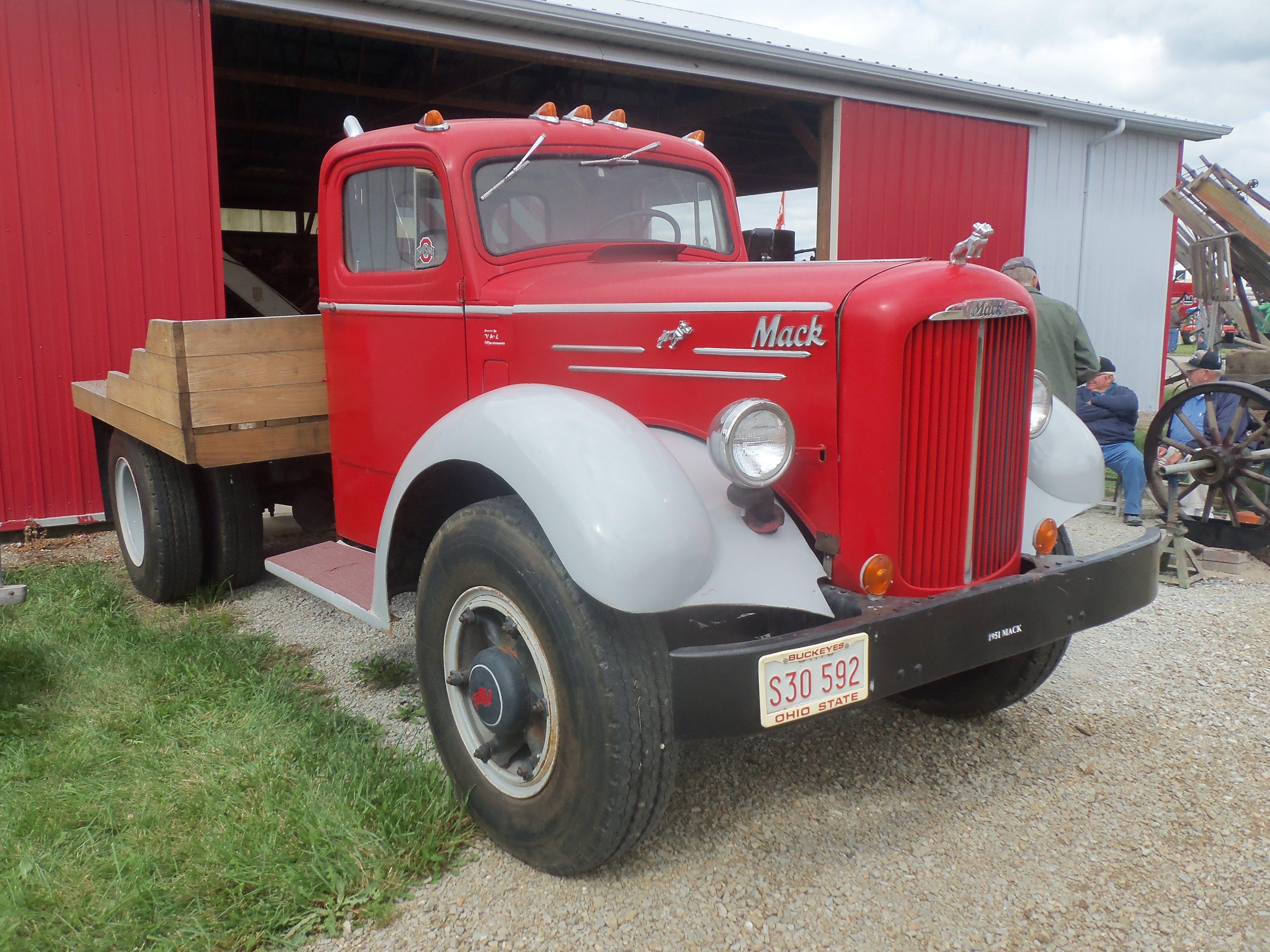 Red Gray 1950s Mack Truck Mack Trucks Mack Tonka Truck