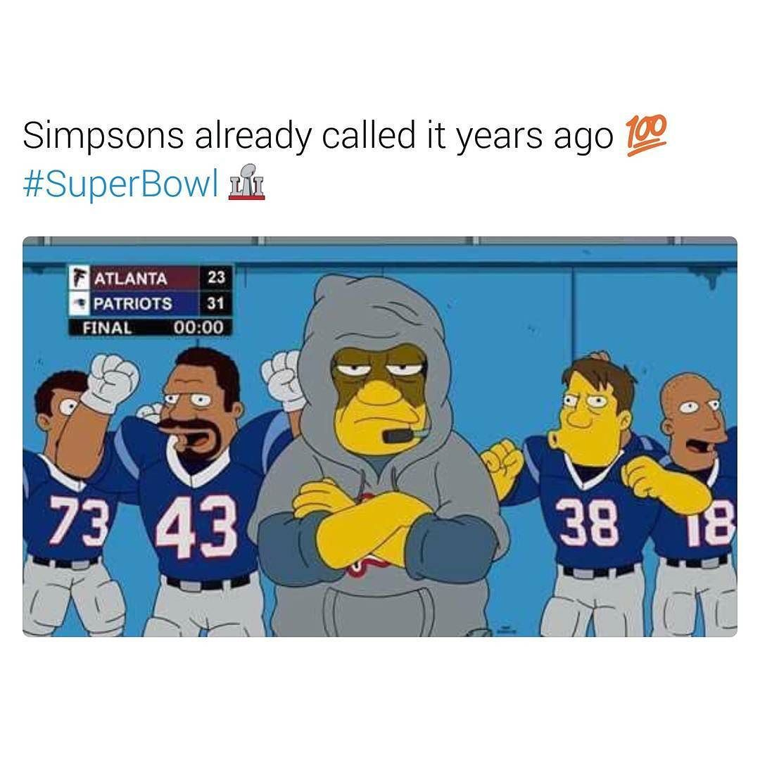 Superbowl Nfl Patriots Superbowlsunday Football Sundayfootball Patsnation Pats Newengland Champions Falcons Riseup The Simpsons Super Bowl Patriots