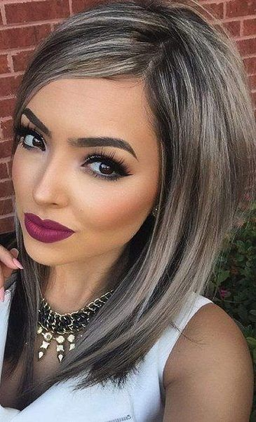 silver gray ombre hair color ideas