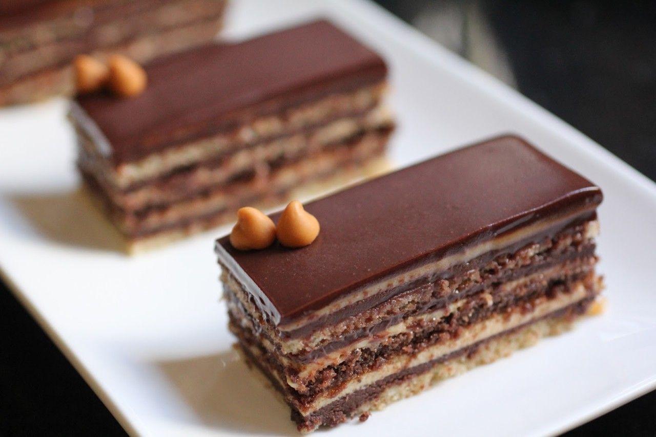 Torta opera Sweet cakes, Pastry