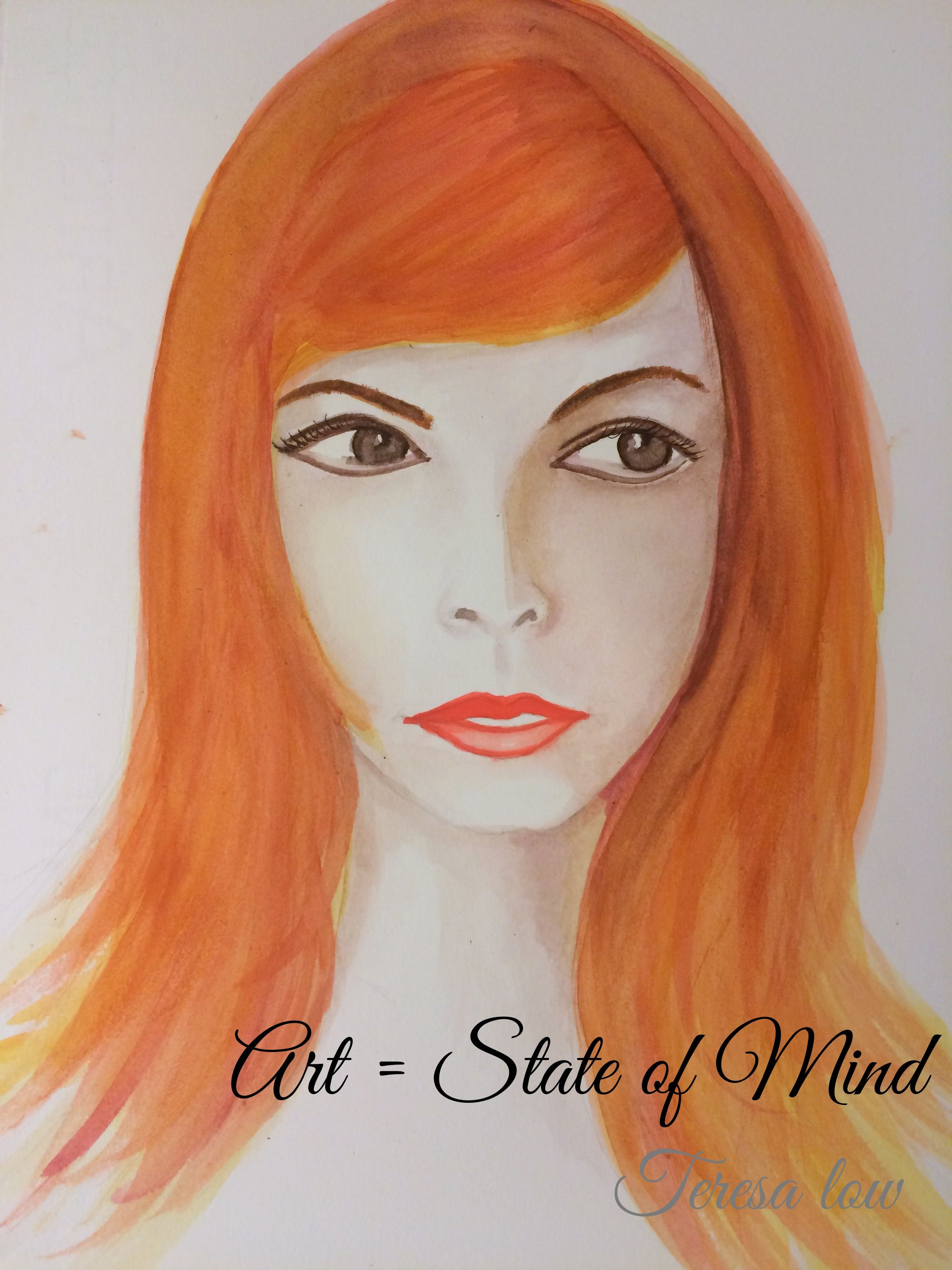 Art = state of mind? Painted this when I was watching a very scary and disturbing movie...