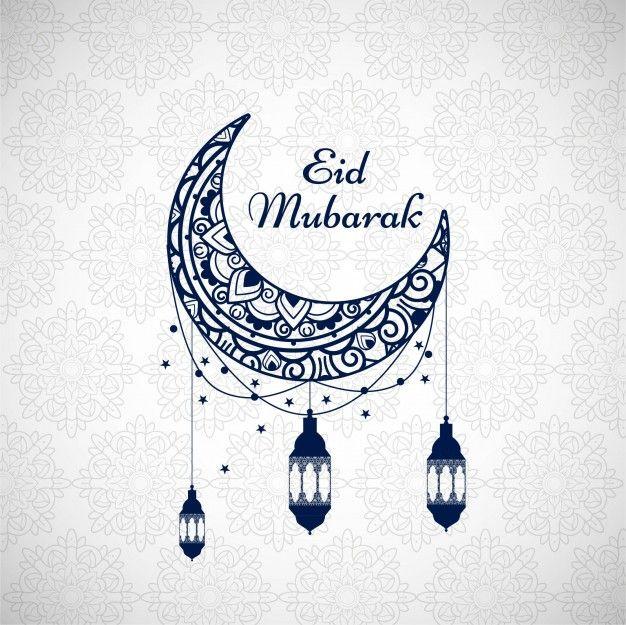 Download Eid Mubarak Background With Blue Moon For Free Images Eid Mubarak Photo Eid Mubarak Carte Eid Mubarak