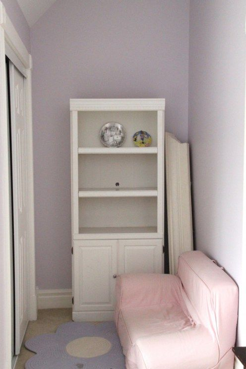 Super cute room with before and after photos using silver - Cute colors to paint your room ...