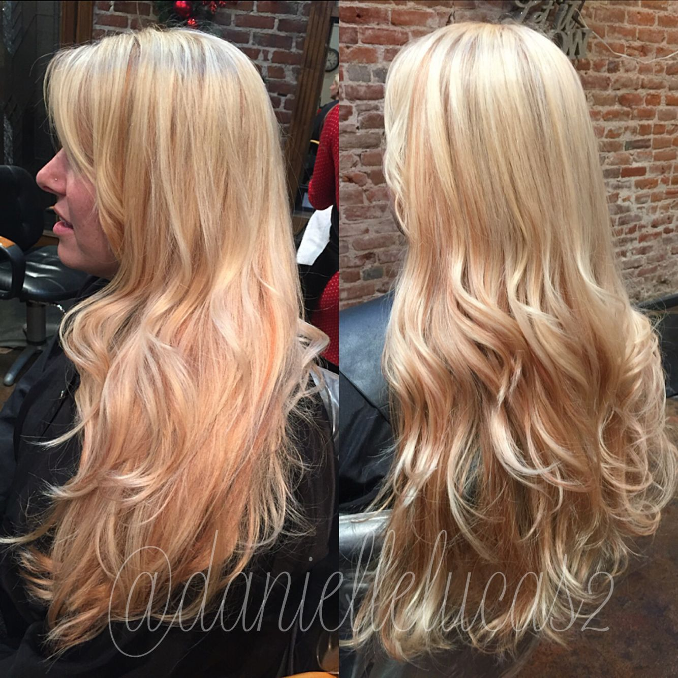 Blonde Highlight And Peach Rose Lowlight Done By Me Hair Hair Inspiration Hair Hacks