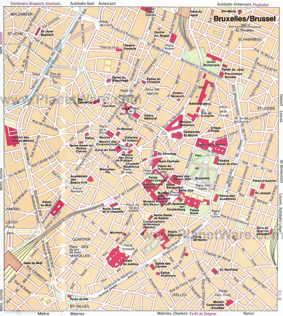 Map of Brussels Attractions | My heart belongs to Brussels | Map ...