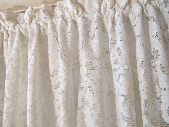 Quaker Lace Curtain Panel 36 Inch Long Cafe Drape Lace Curtain