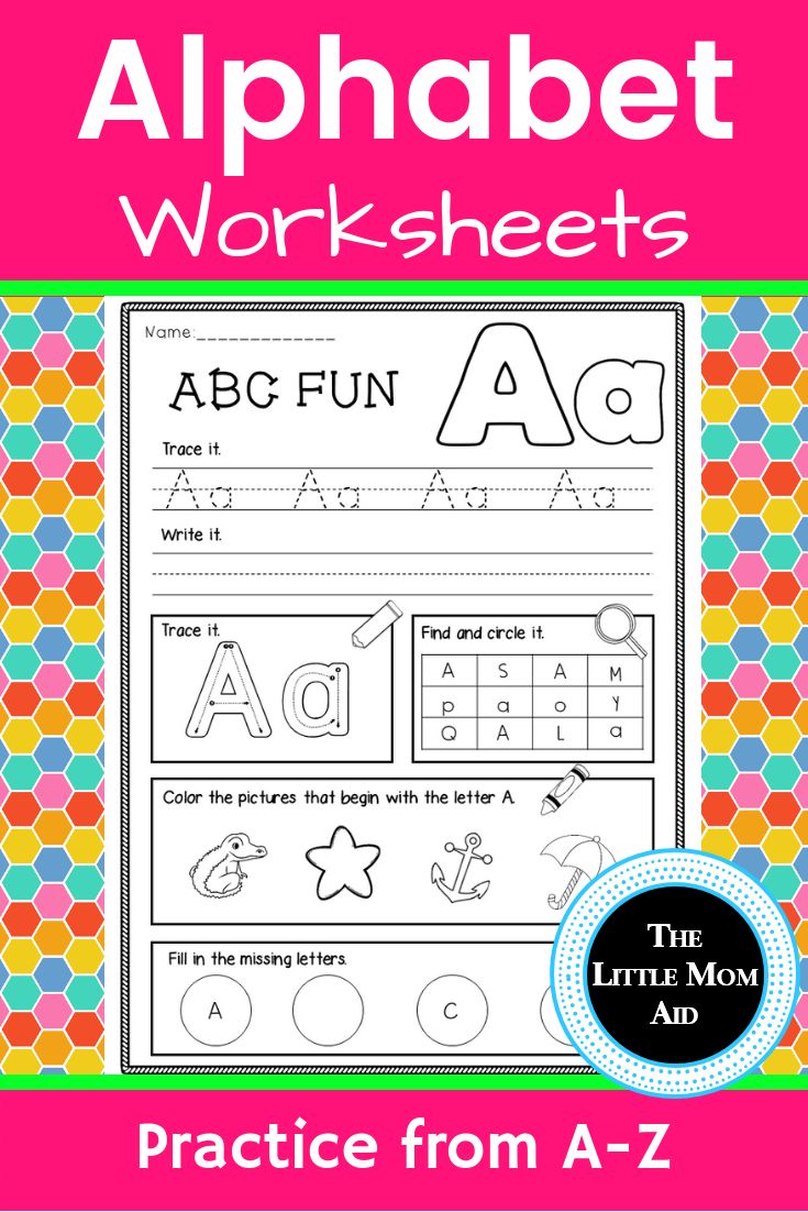 These Fun And Engaging Alphabet Worksheets Will Get Your Students Learning Their Letters From A To Z Each Alphabet Worksheets Alphabet Activities Kindergarten [ 1102 x 735 Pixel ]