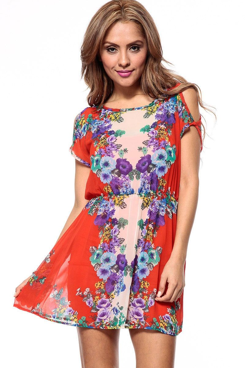 Draped floral saraphine mini dress cicihot sexy dressessexy dress