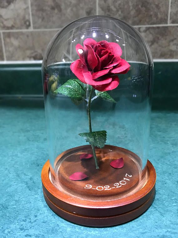 Engraved Beauty And The Beast Rose Small Beauty And The Beast Beast Decorations Beast