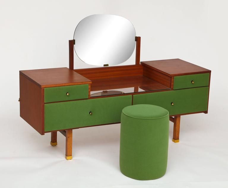 Roger Landault Vanity And Chair, Modernist, French Mid Century 2
