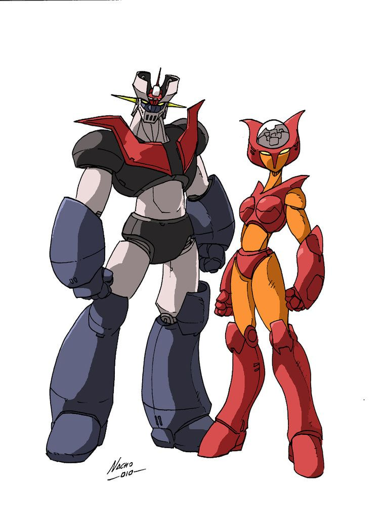 Mazinger z coloring pages - Mazinger Z And Aphrodite A By Nachomon