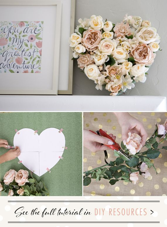 DIY Floral Heart project
