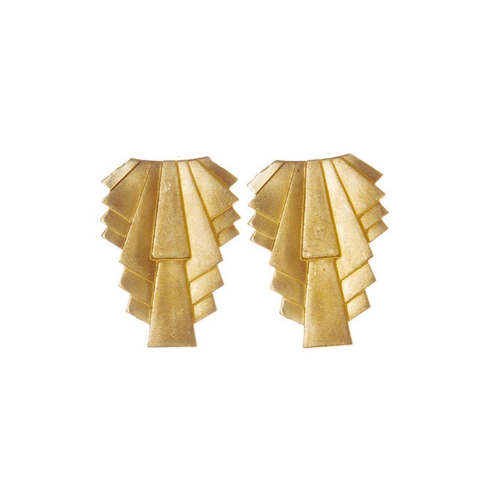Pendulum Øreringe, Collar, Guld