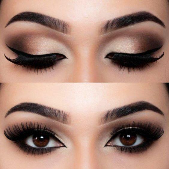 19 besten Lidschatten-Make-up-Ideen für braune Augen - Ellise M. #prommakeup