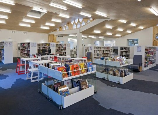 Mediatheque Gao Xingjian Idm Design Library Design Modern Library Tourcoing