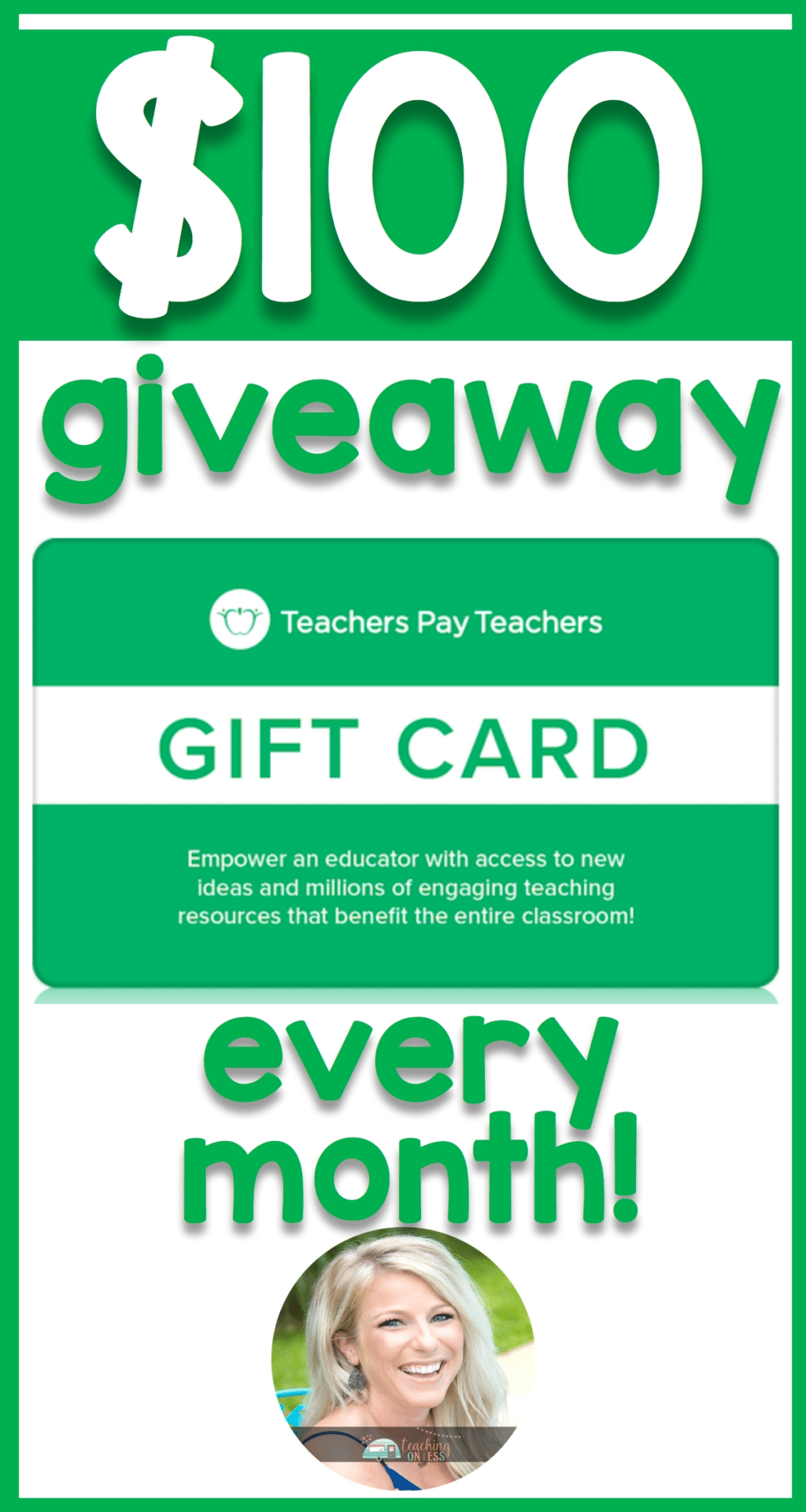 - Giveaways For Teachers Pay Teachers Followers Interactive