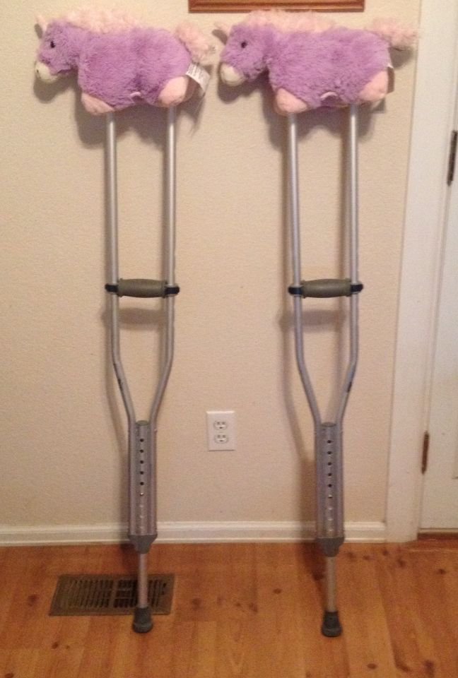 Use Mini Pillow Pets Or Stuffies To Cushion Your Crutches Klutz Hack Crutches Padding Diy Decorated Crutches Crutches Diy